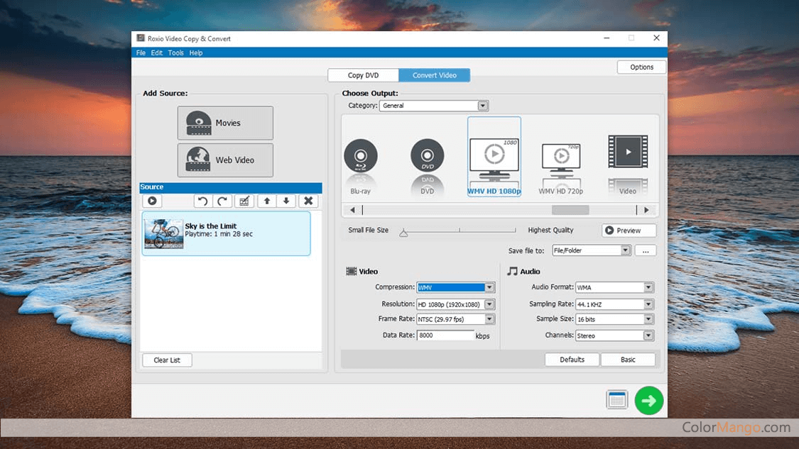 Roxio Easy Video Copy & Convert Screenshot