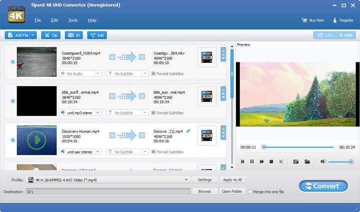 Tipard 4K UHD Converter Screenshot