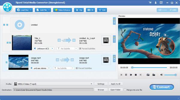 Tipard Total Media Converter Screenshot
