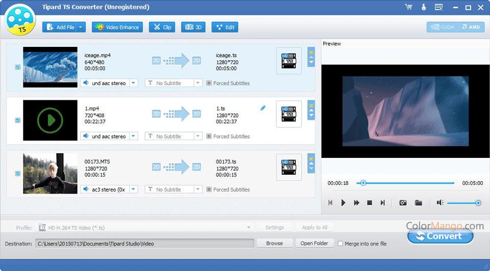 Tipard TS Converter Screenshot
