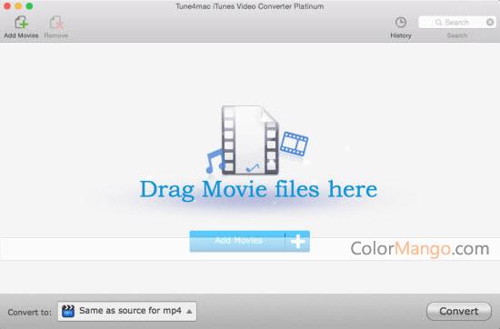 Tune4mac iTunes Video Converter Platinum Screenshot