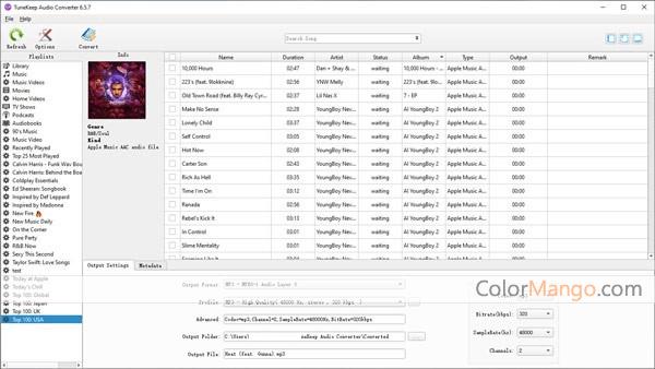 TuneKeep Audio Converter Screenshot