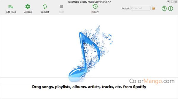 TuneMobie Spotify Music Converter Screenshot