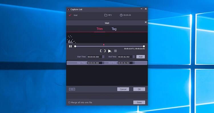TunesKit Audio Capture Screenshot