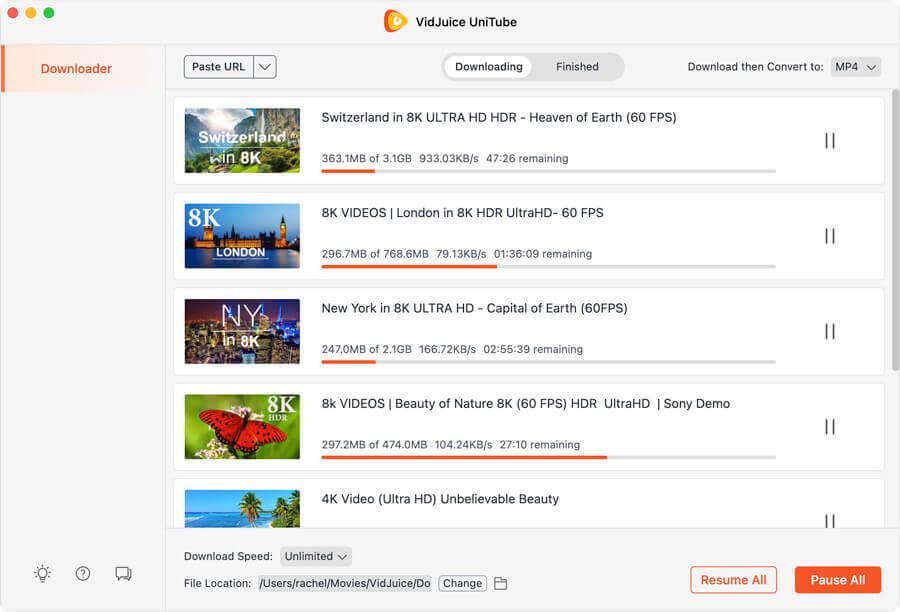 VidJuice UniTube Video Downloader Screenshot