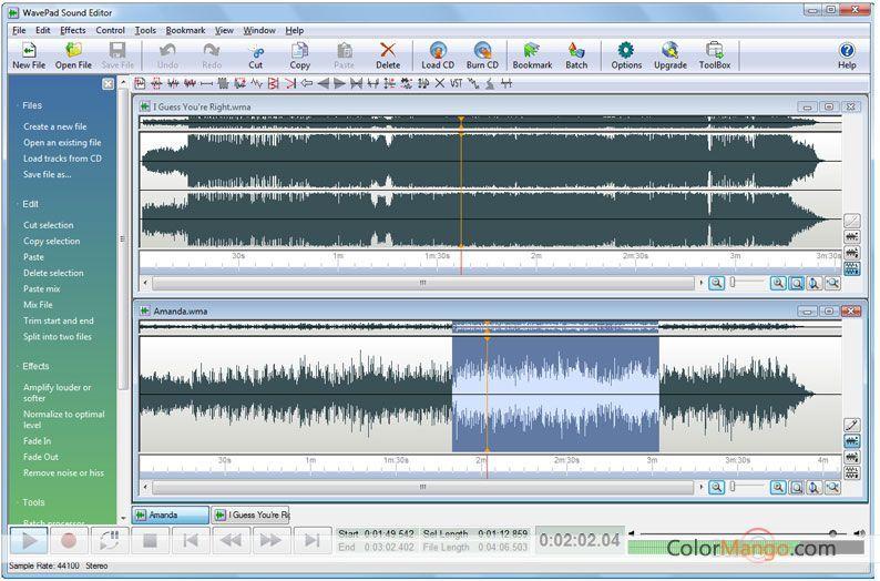wavepad sound editor francais