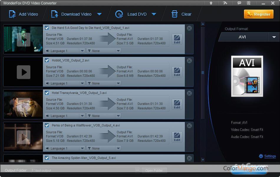 WonderFox DVD Video Converter Screenshot