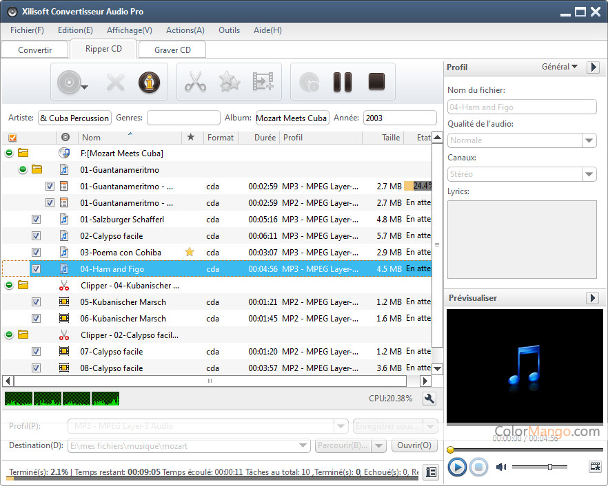 Xilisoft Convertisseur Audio Pro Screenshot
