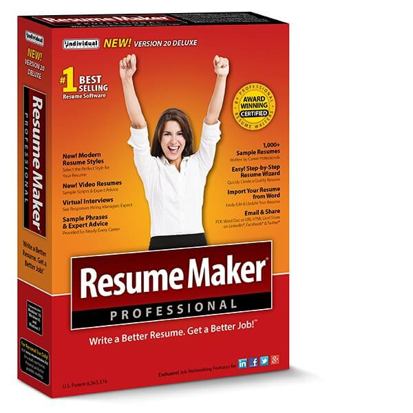 resumemaker professional deluxe online shopping price free trial