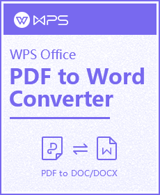 WPS PDF To Word 40% Discount