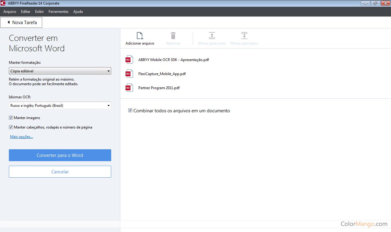 ABBYY FineReader PDF Capture D'écran