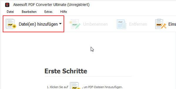Aiseesoft PDF Converter Ultimate Bildschirmfoto