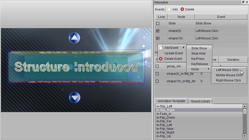 Aurora 3D Presentation Screenshot
