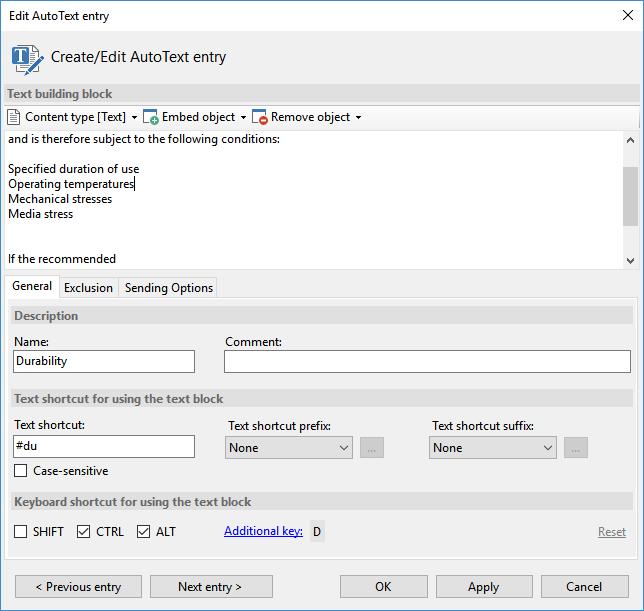 AutoText Master Screenshot