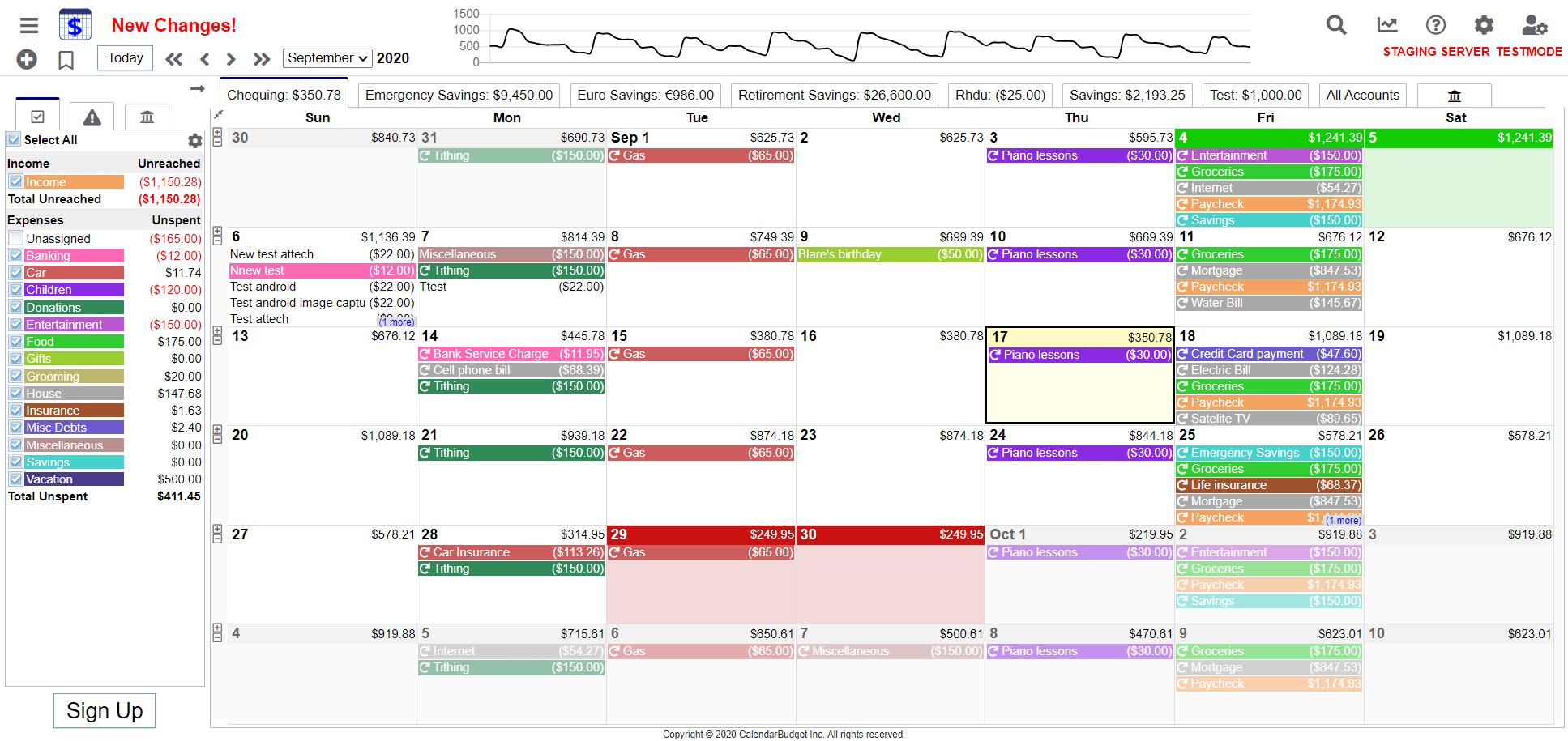CalendarBudget Screenshot