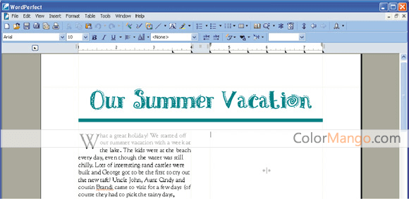 WordPerfect Office Home & Student Screenshot