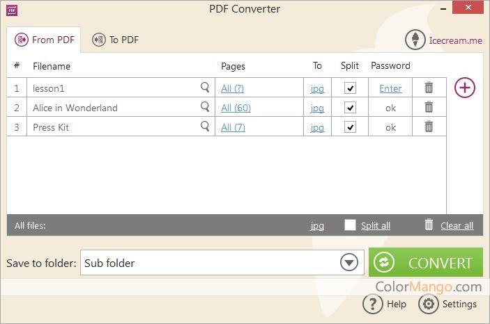 Icecream PDF Converter Screenshot