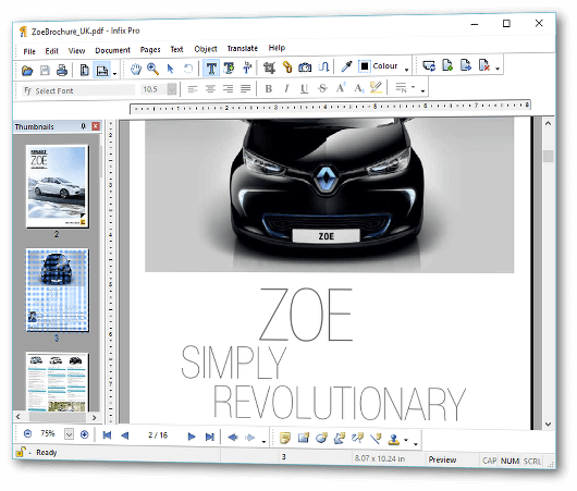 Infix PDF Editor Screenshot