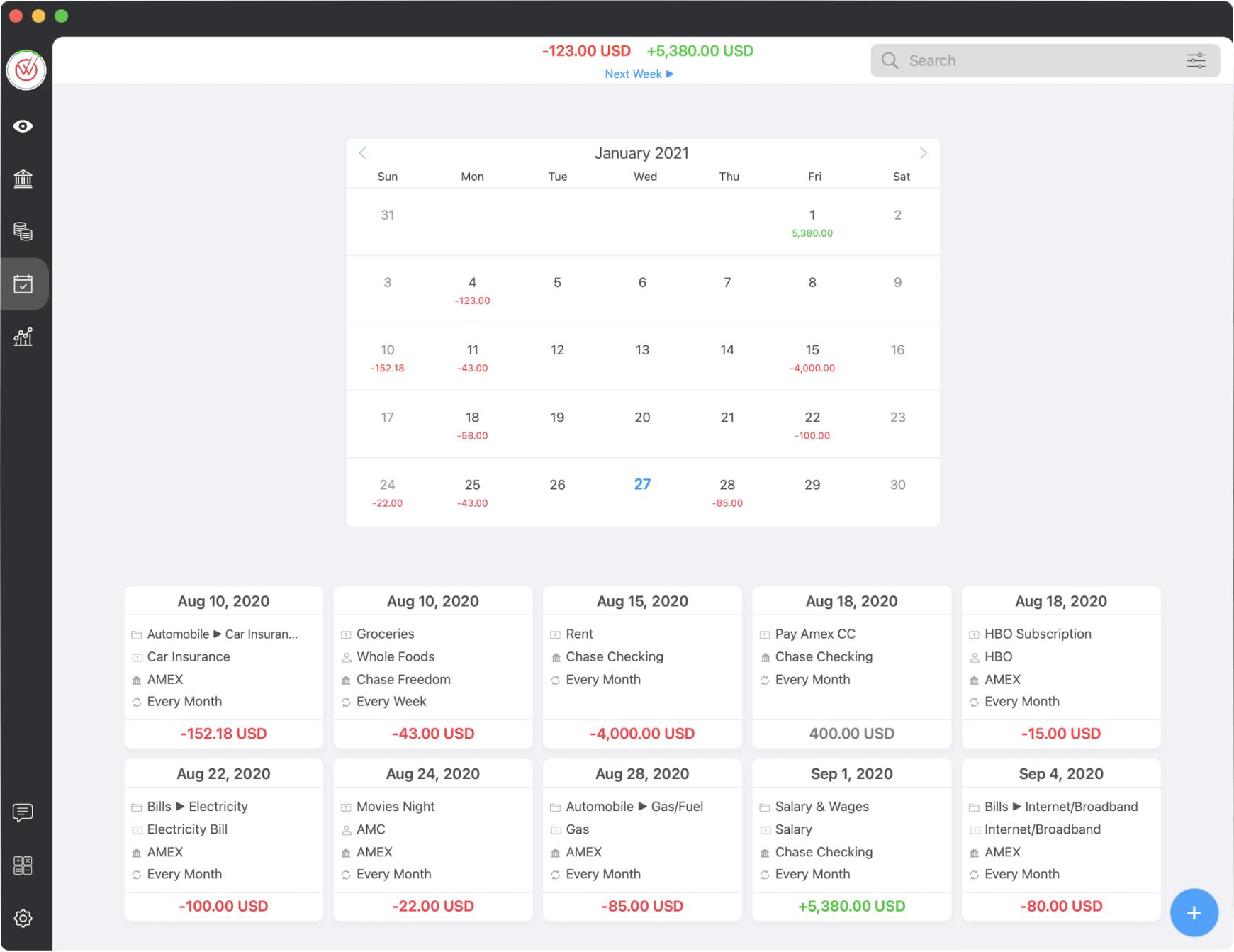 MoneyWiz スクリーンショット