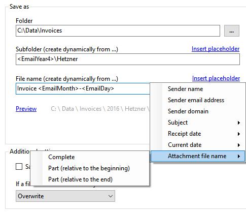 Outlook Attachment Extractor Screenshot
