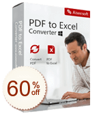 Aiseesoft PDF to Excel Converter Discount Coupon