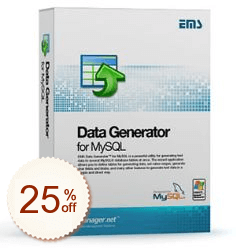 EMS Data Generator for MySQL Discount Coupon