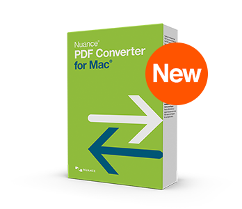 Nuance PDF Converter for Mac Shopping & Trial