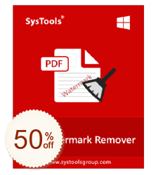 SysTools PDF Watermark Remover Code coupon de réduction