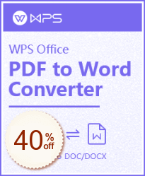 WPS PDF To Word Discount Coupon