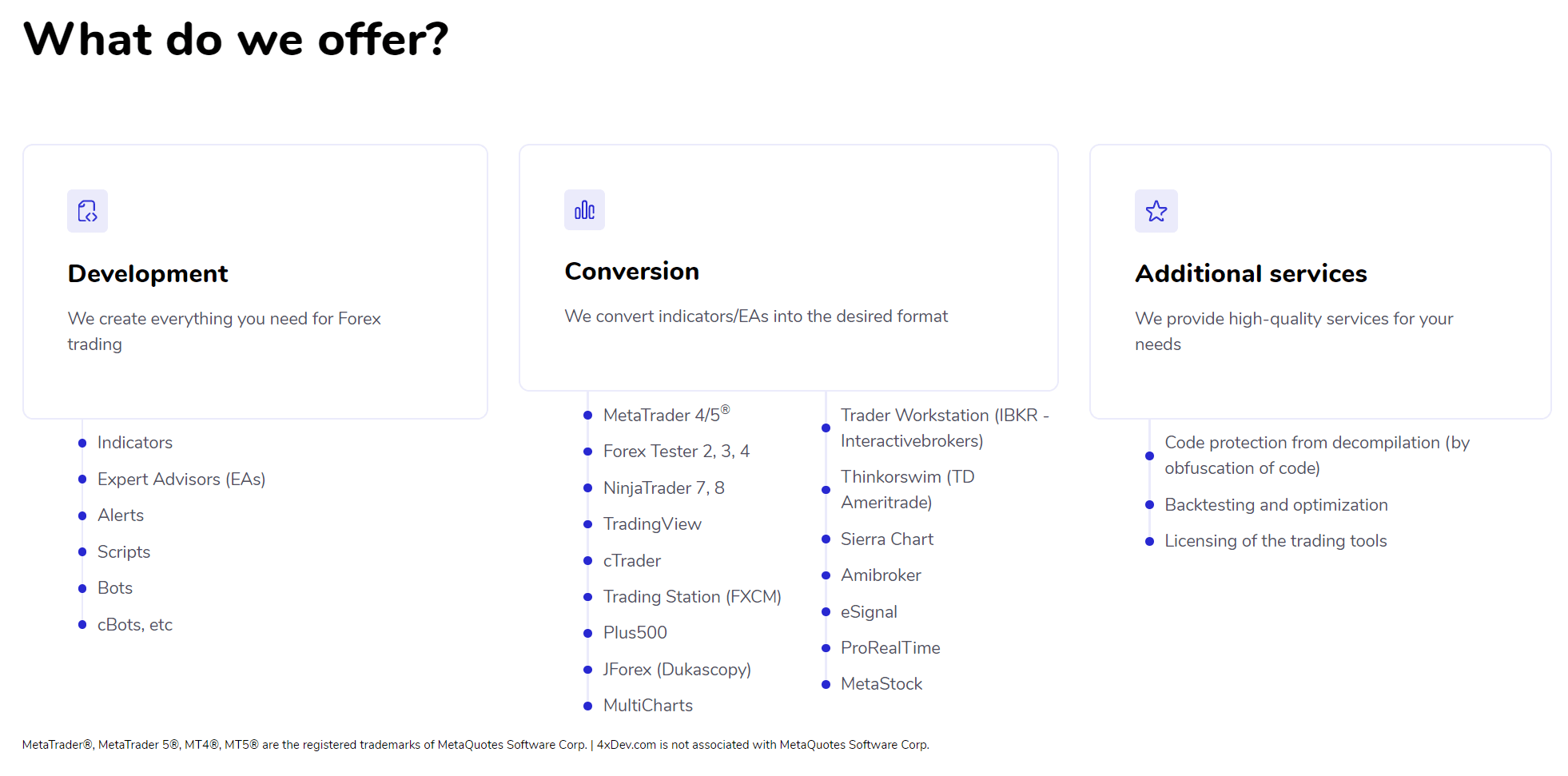 4xdev Forex Screenshot