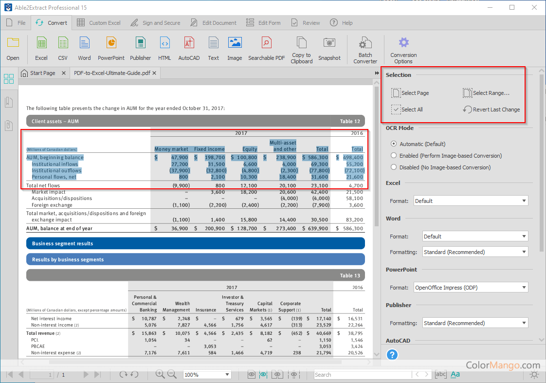Able2Extract Professional Screenshot