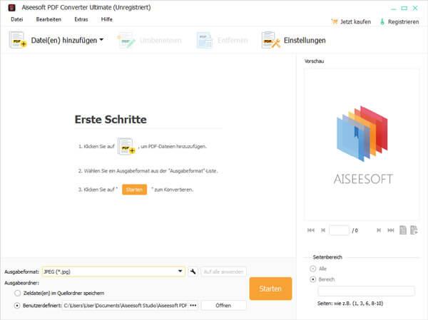 Aiseesoft PDF Converter Ultimate Screenshot