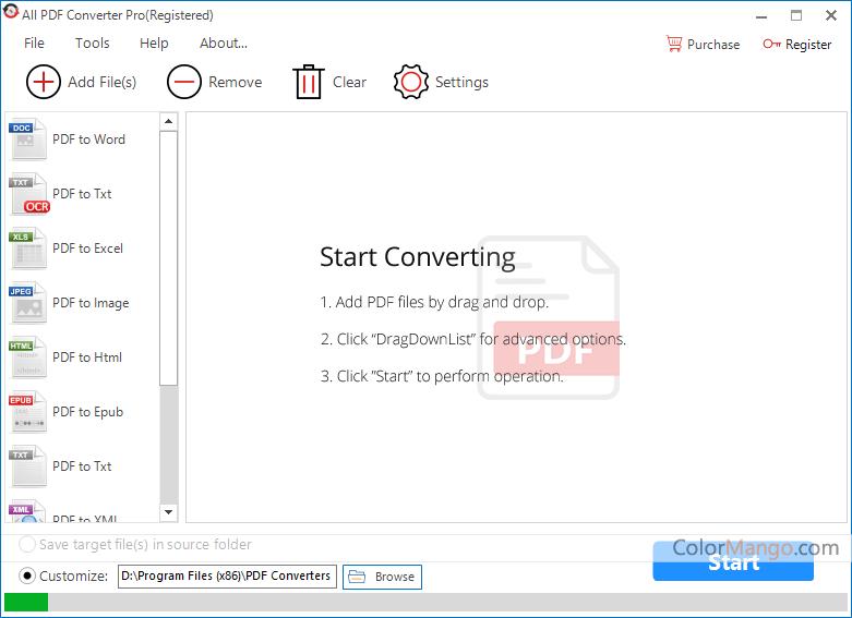 All PDF Converter Pro Screenshot