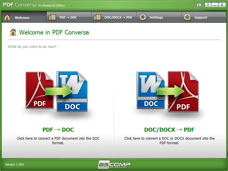 ASCOMP PDF Conversa Screenshot