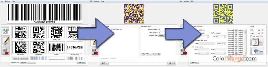 Aurora3D Barcode Generator Screenshot