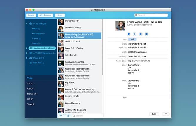 Cisdem ContactsMate Screenshot