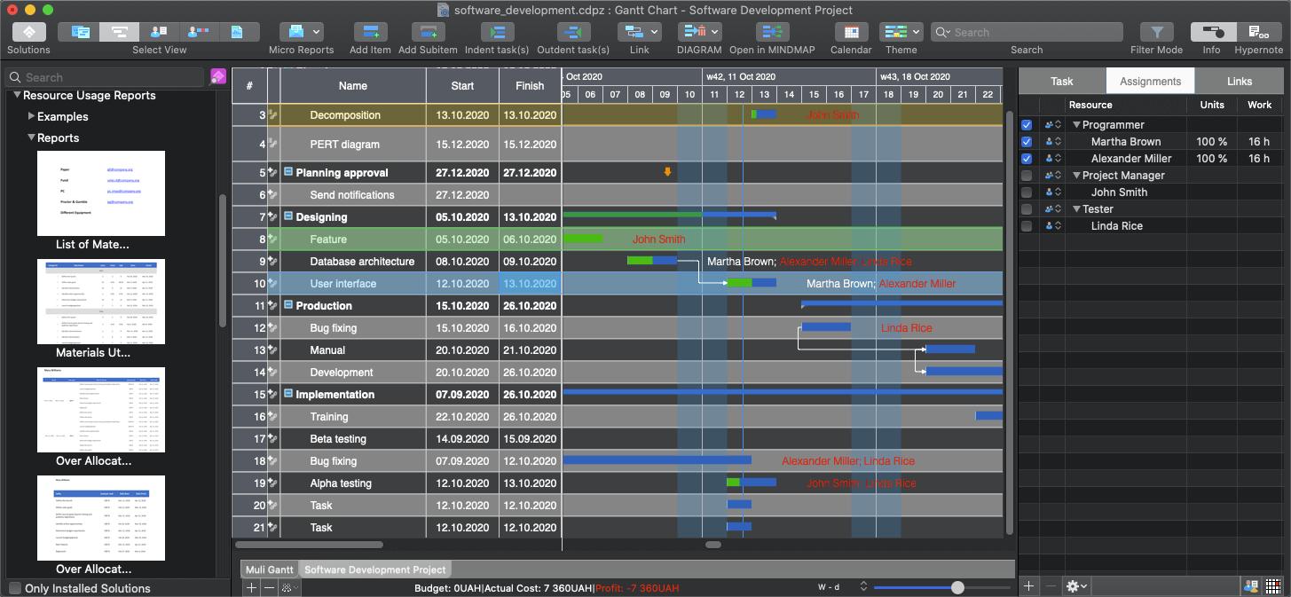 ConceptDraw PROJECT Screenshot