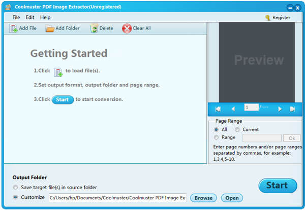 Coolmuster PDF Image Extractor Screenshot