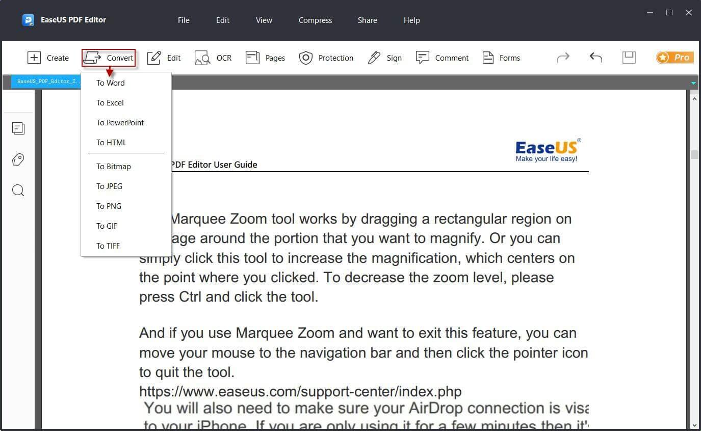 EaseUS PDF Editor Screenshot