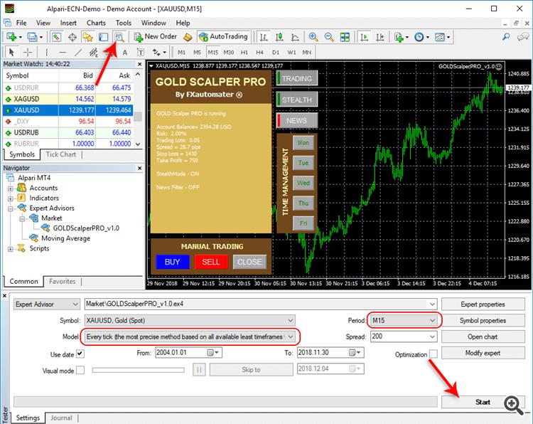 GOLD Scalper PRO Screenshot