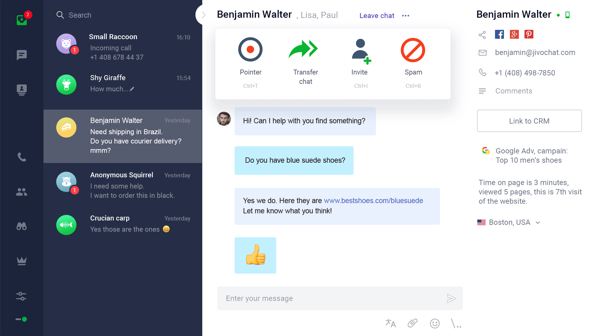 JivoChat Screenshot