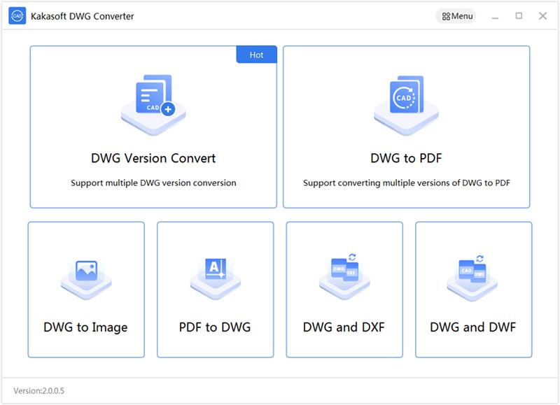 KakaSoft PDF to DWG Converter Screenshot