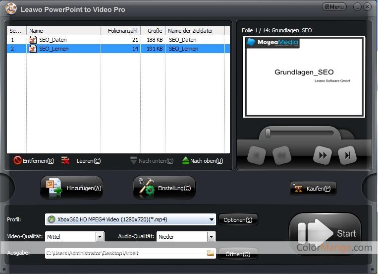 Leawo PowerPoint to Video Pro Screenshot