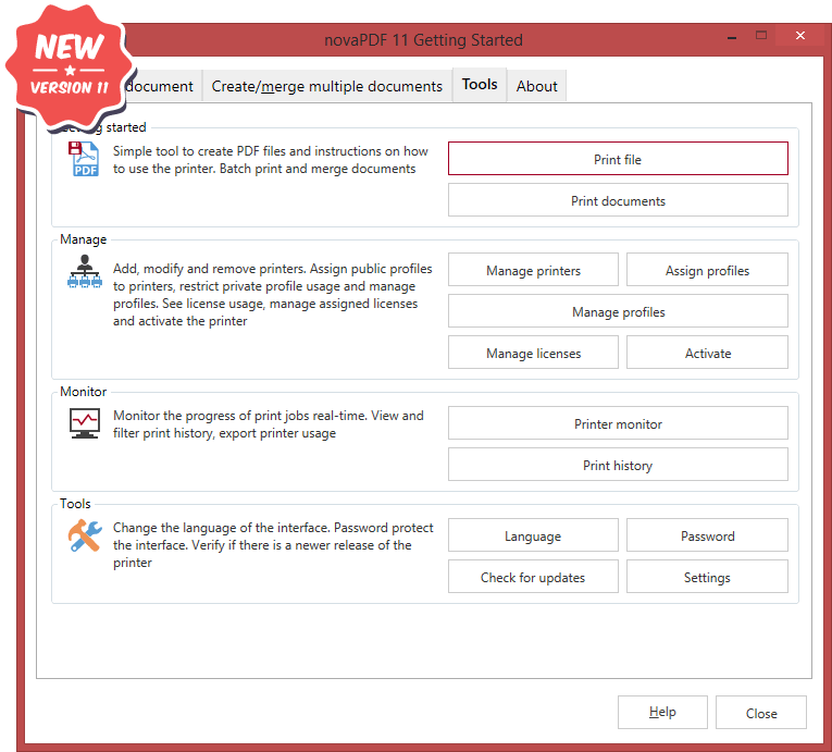novaPDF Screenshot