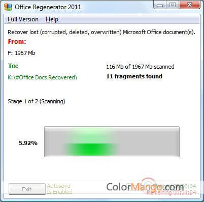 Office Regenerator Screenshot