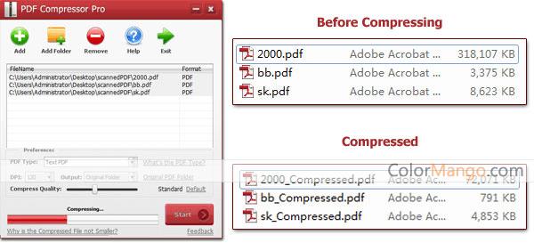 PDF Compressor Pro Screenshot