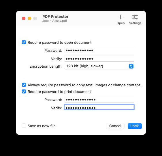 PDF Protector Screenshot