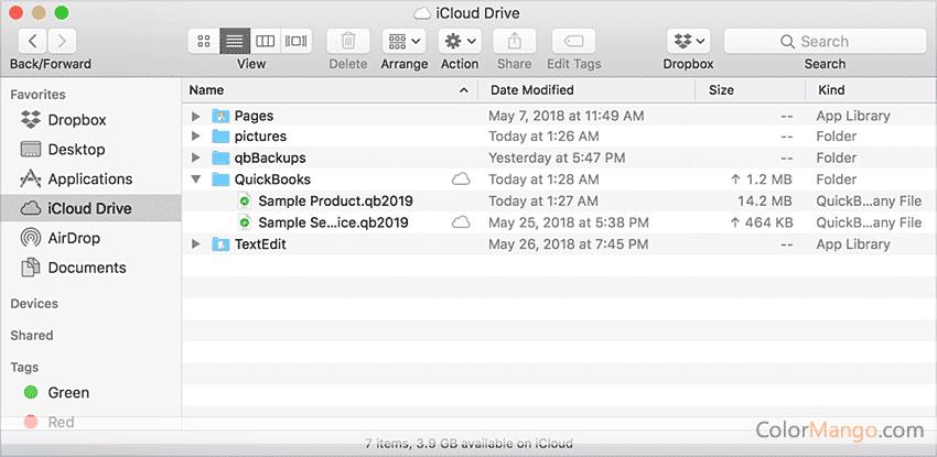 QuickBooks Mac Desktop Screenshot