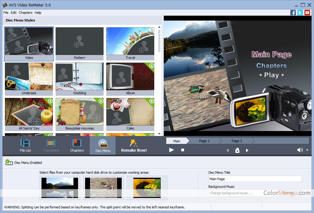 AVS Video ReMaker スクリーンショット