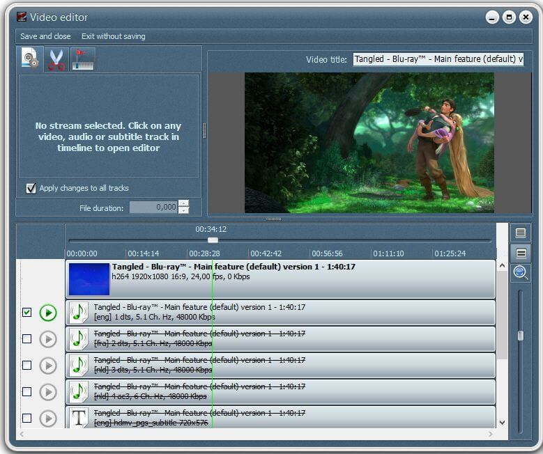 VSO Blu-ray Converter Screenshot